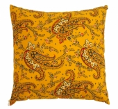 Coussin Boteh Jaune